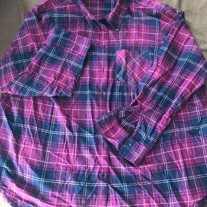 Soft flannel longsleeved shirt size 3X